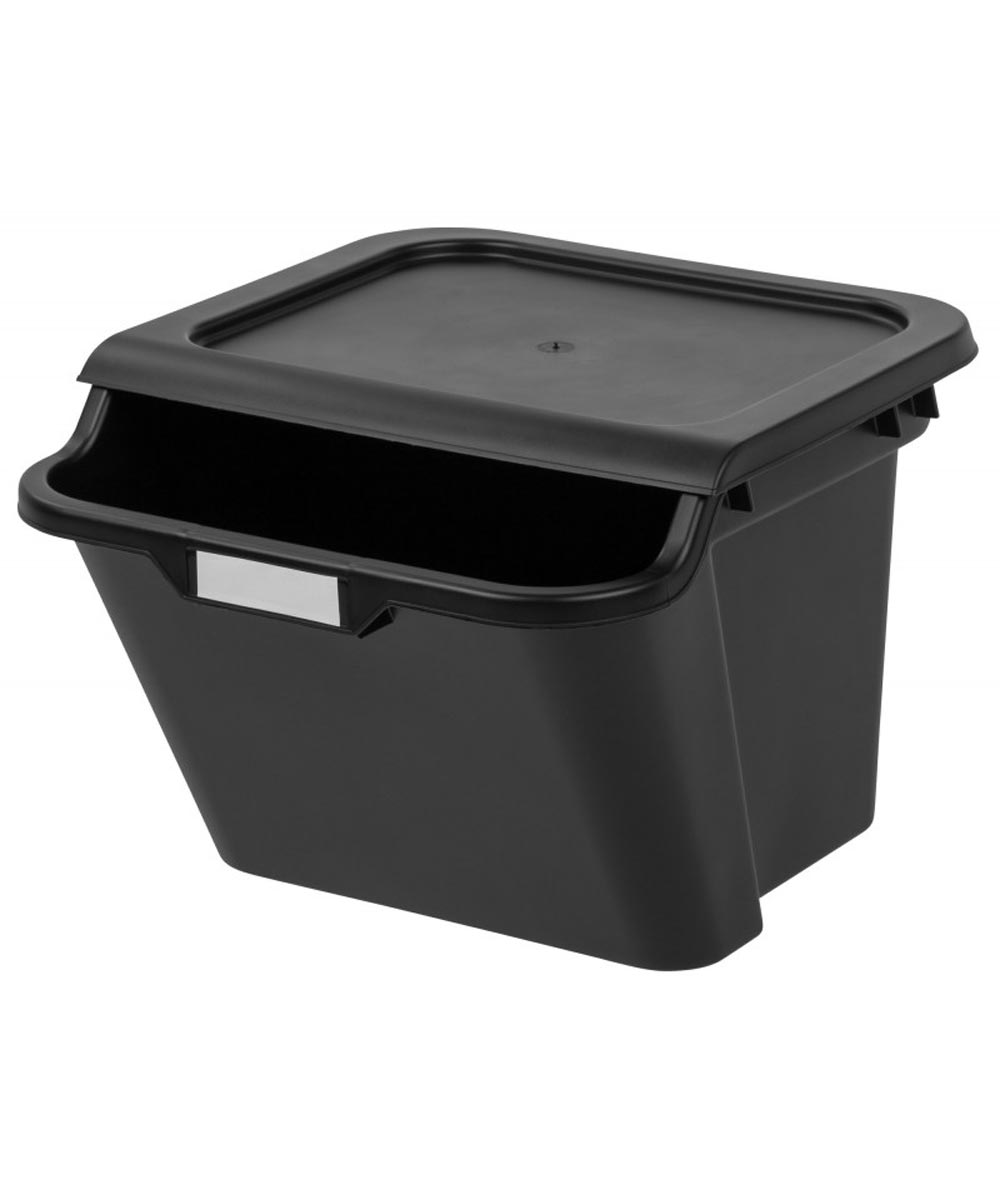 Stacking Recycling Bin, Black