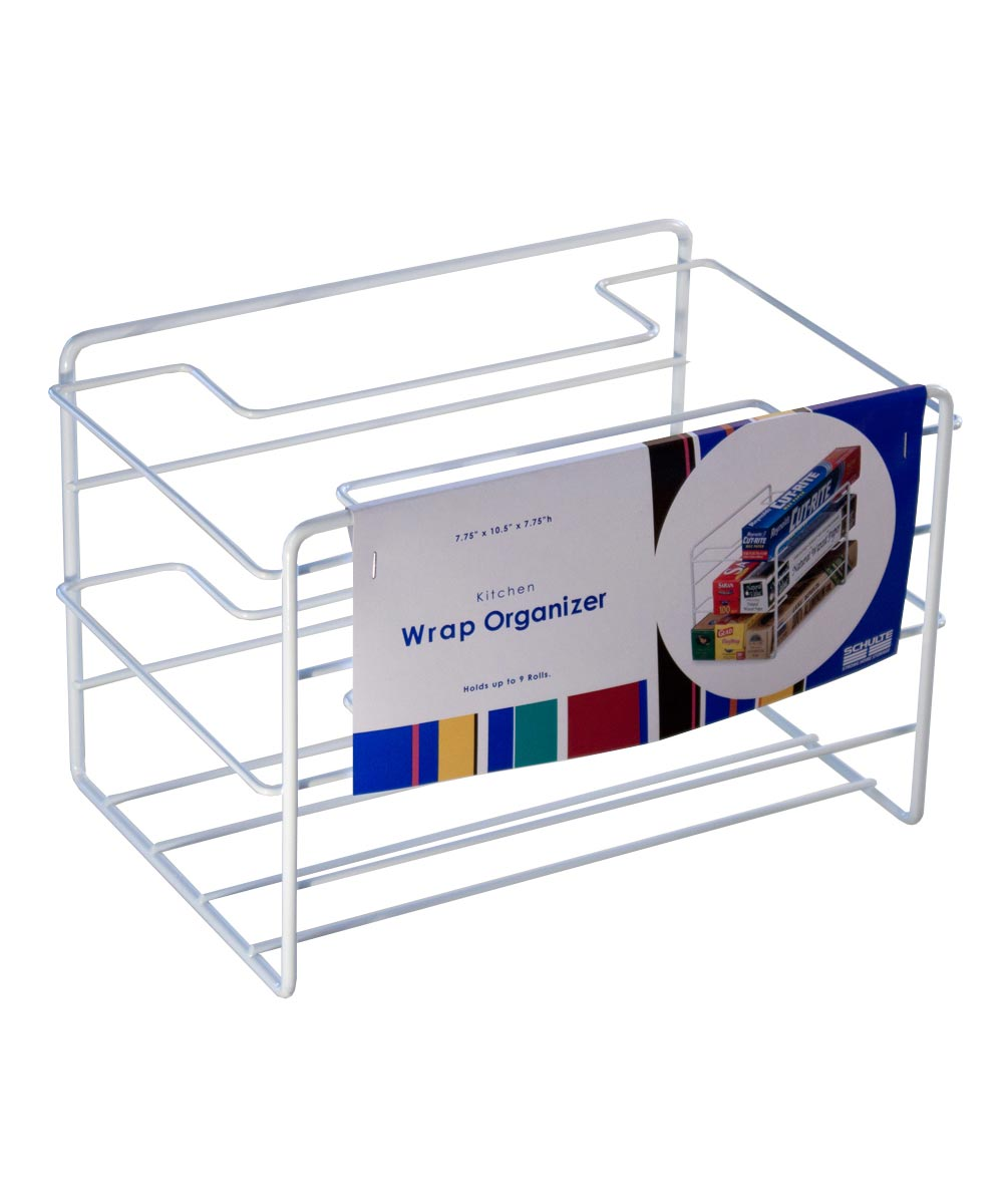 Kitchen Food Wrap Organizer, White