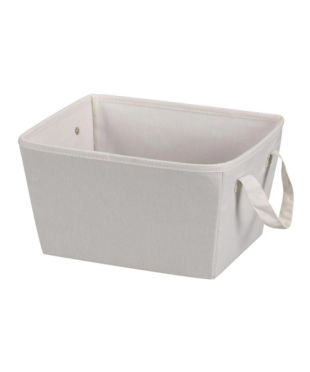 Small Canvas Storage Bin, Natural Color