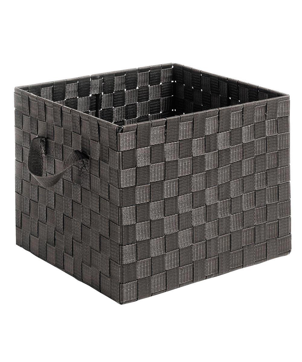 Espresso Woven Strap Crate