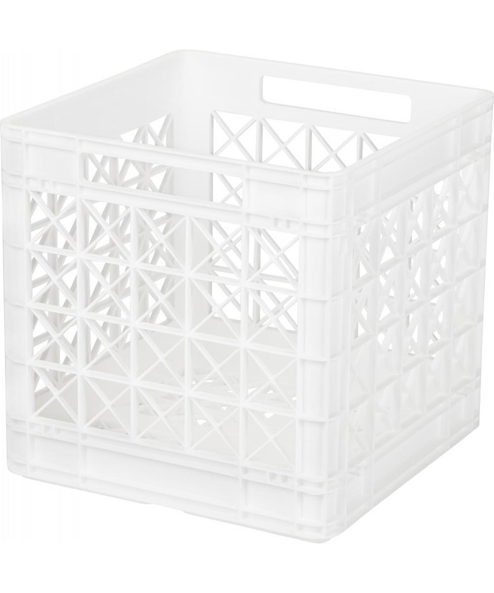 Supreme Heavy-Duty Stacking Storage Crate, White
