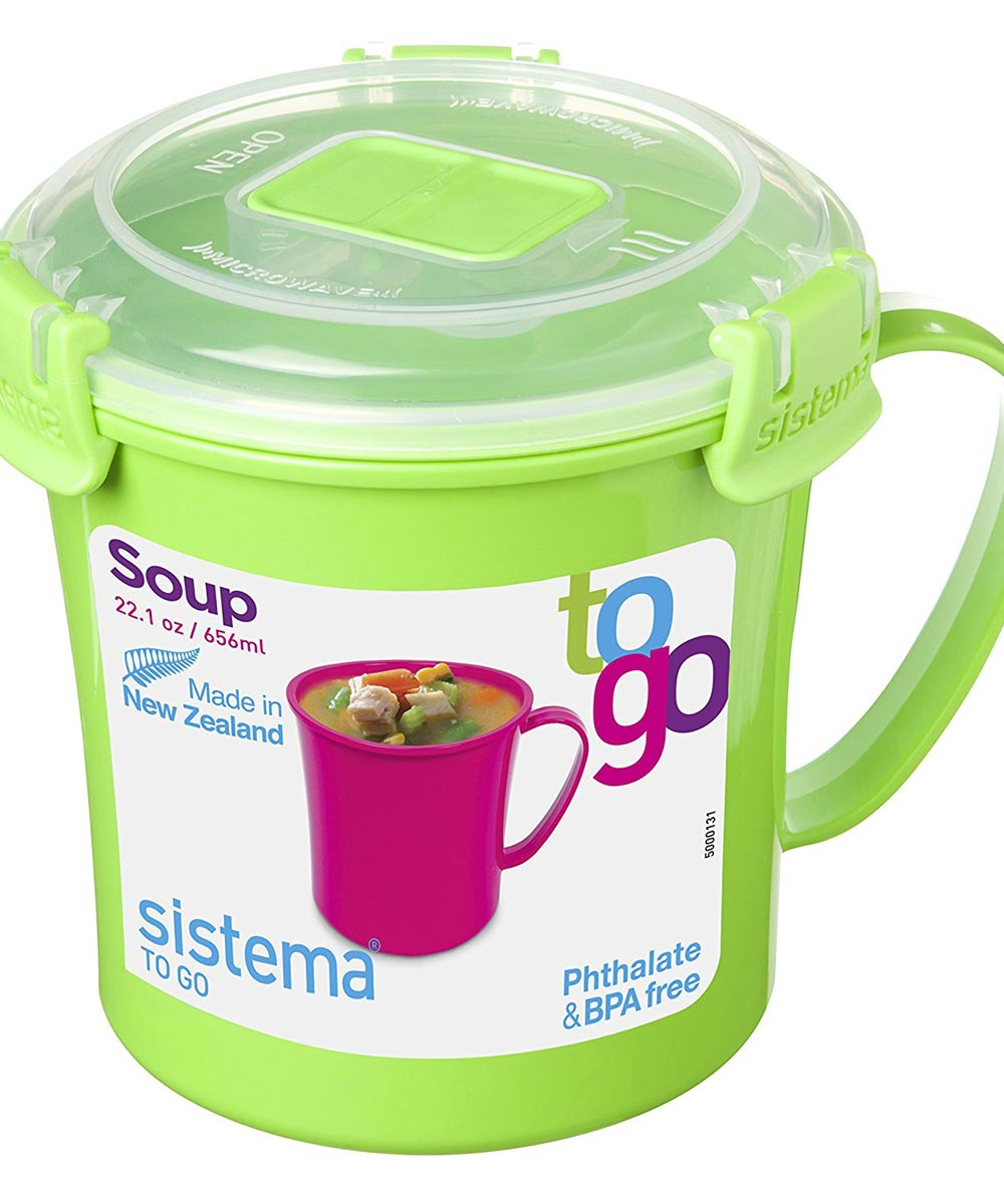 22.1 Ounce Soup Mug To Go, Assorted Colors