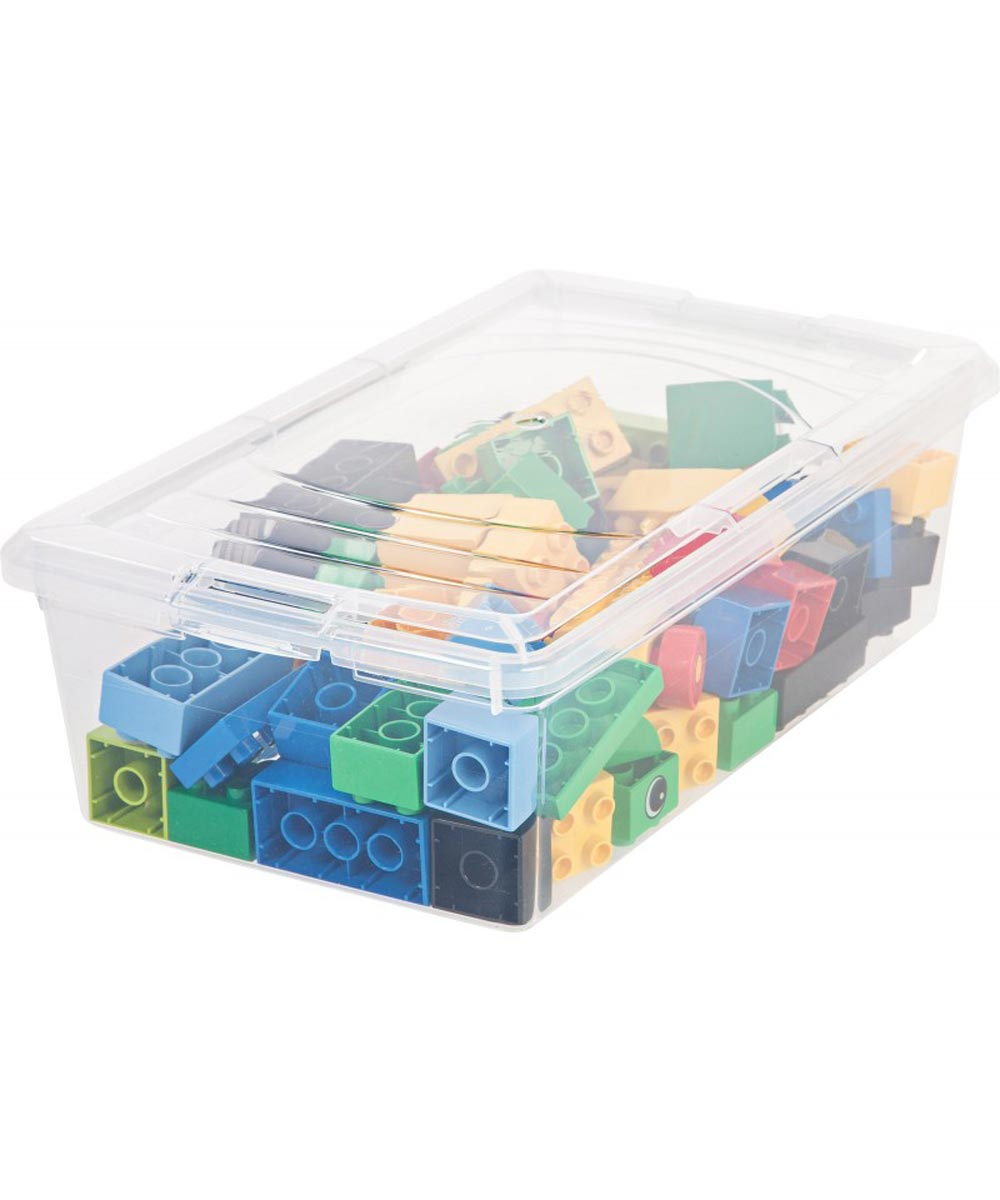 Modular Storage Box (Small Shoe Box), Clear, 6 Quarts / 1.5 Gallons