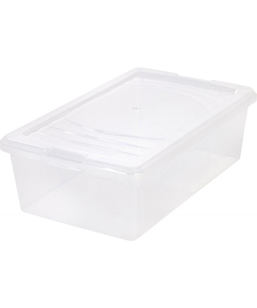 Modular Storage Box (Large Shoe Box), Clear, 13.5 Quarts/3.375 Gallons