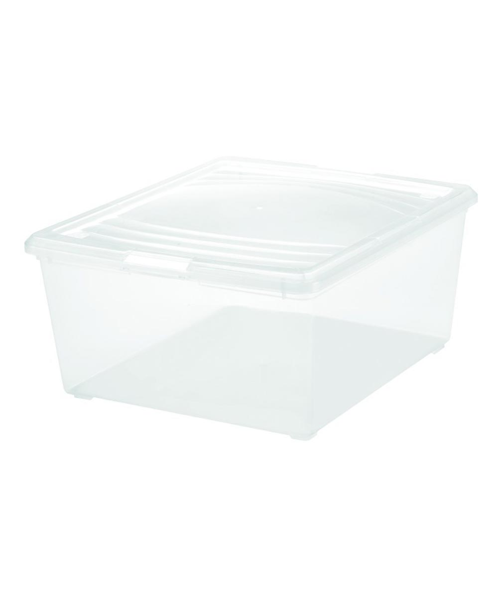 Clear Storage Box (Med Sweater), 21 Quarts / 5.25 Gallons