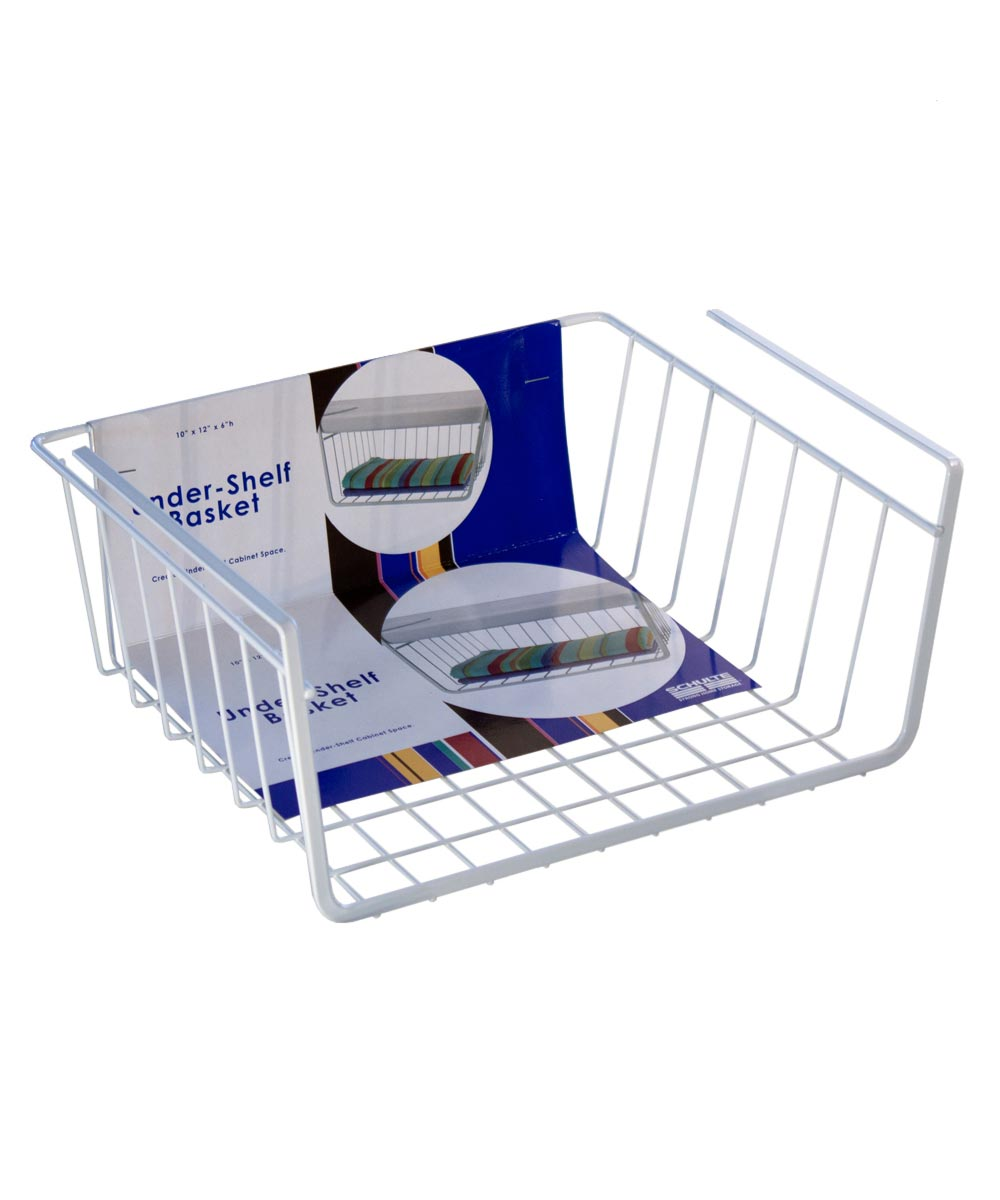 Small Under-Shelf Basket, White