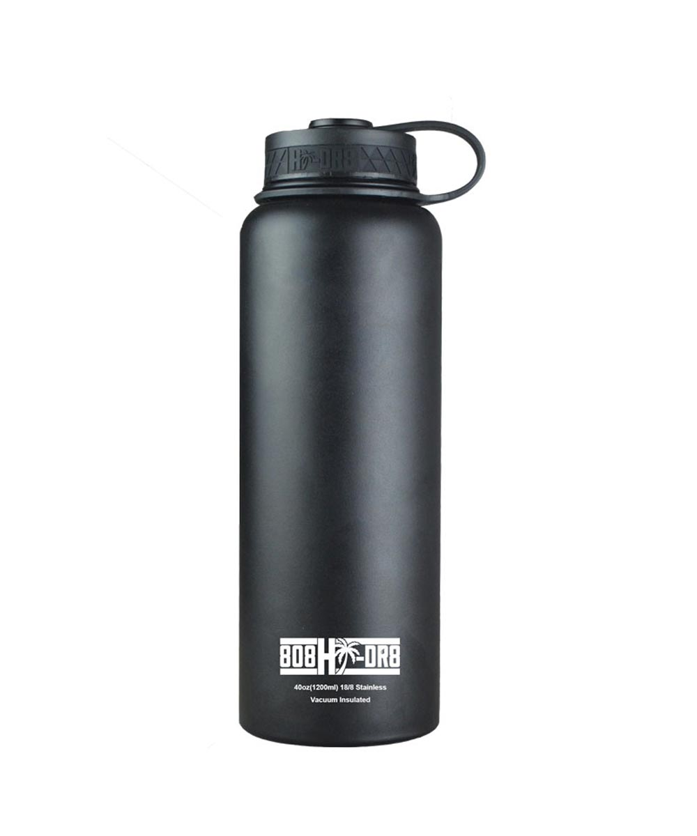 40 oz Stainless Steel Vacuum Insulated Water Bottle, Black Sand