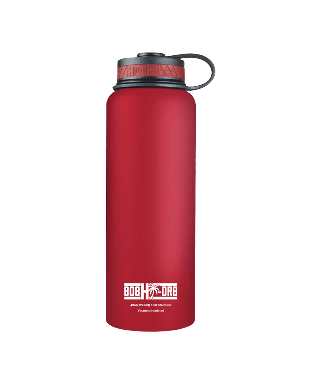 40 oz Stainless Steel Vacuum Insulated Water Bottle, Hibiscus Red