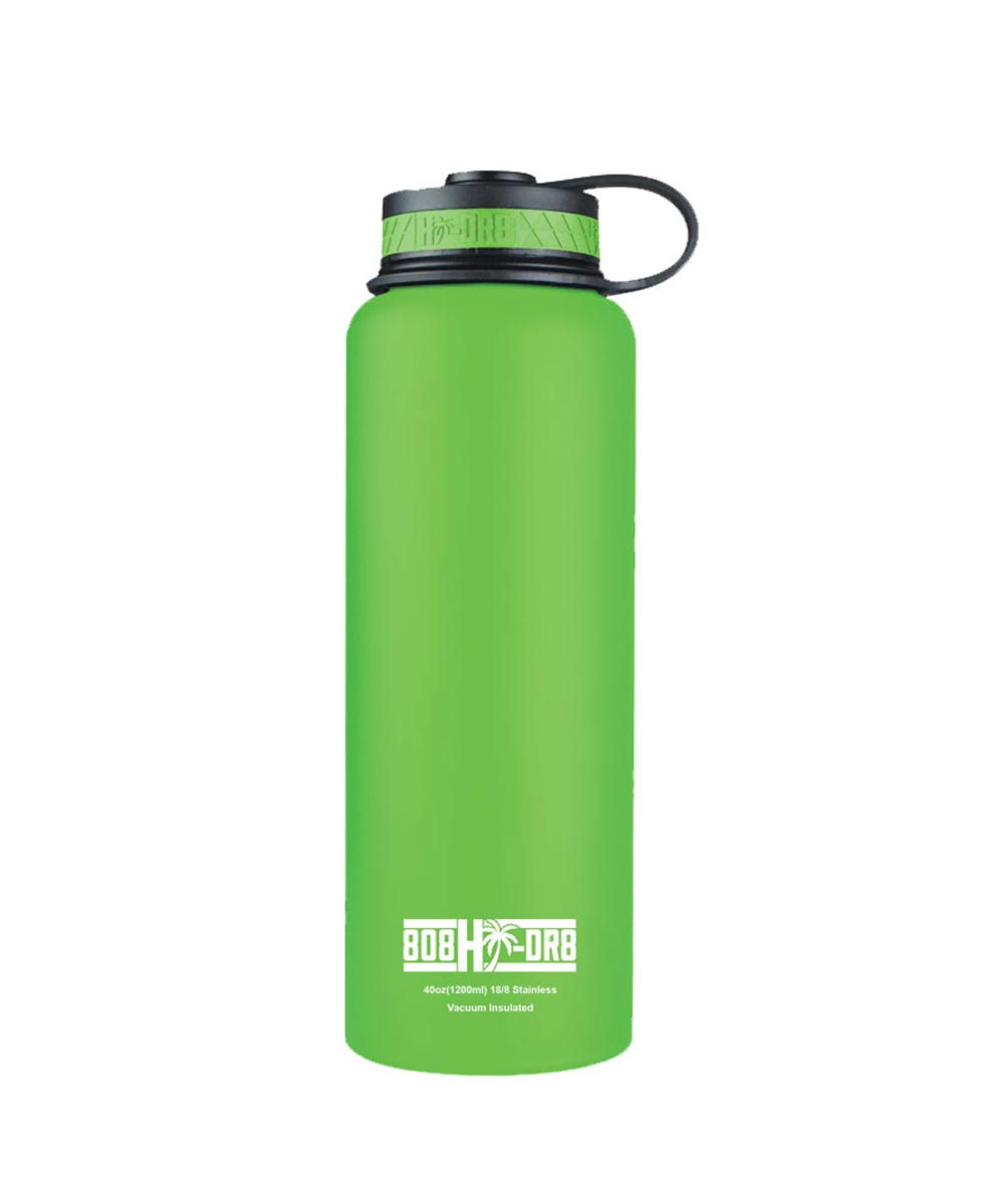 40 oz Stainless Steel Vacuum Insulated Water Bottle, Green Isles