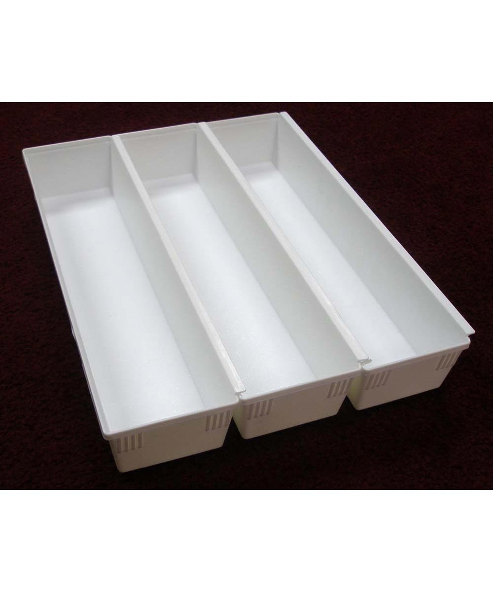 9x3x2 Drawer Organizer, White
