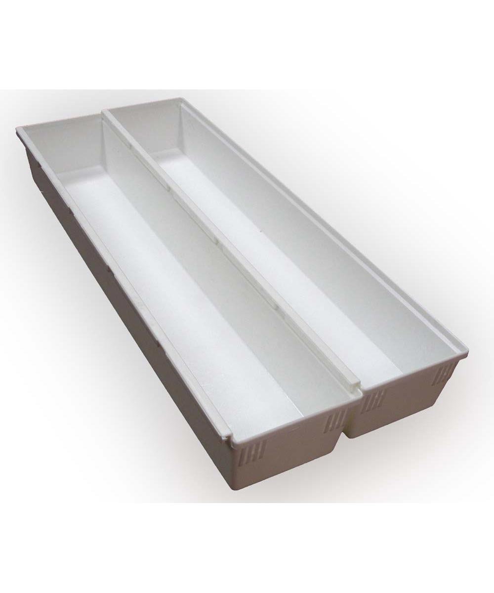 12x3x2 Drawer Organizer, White