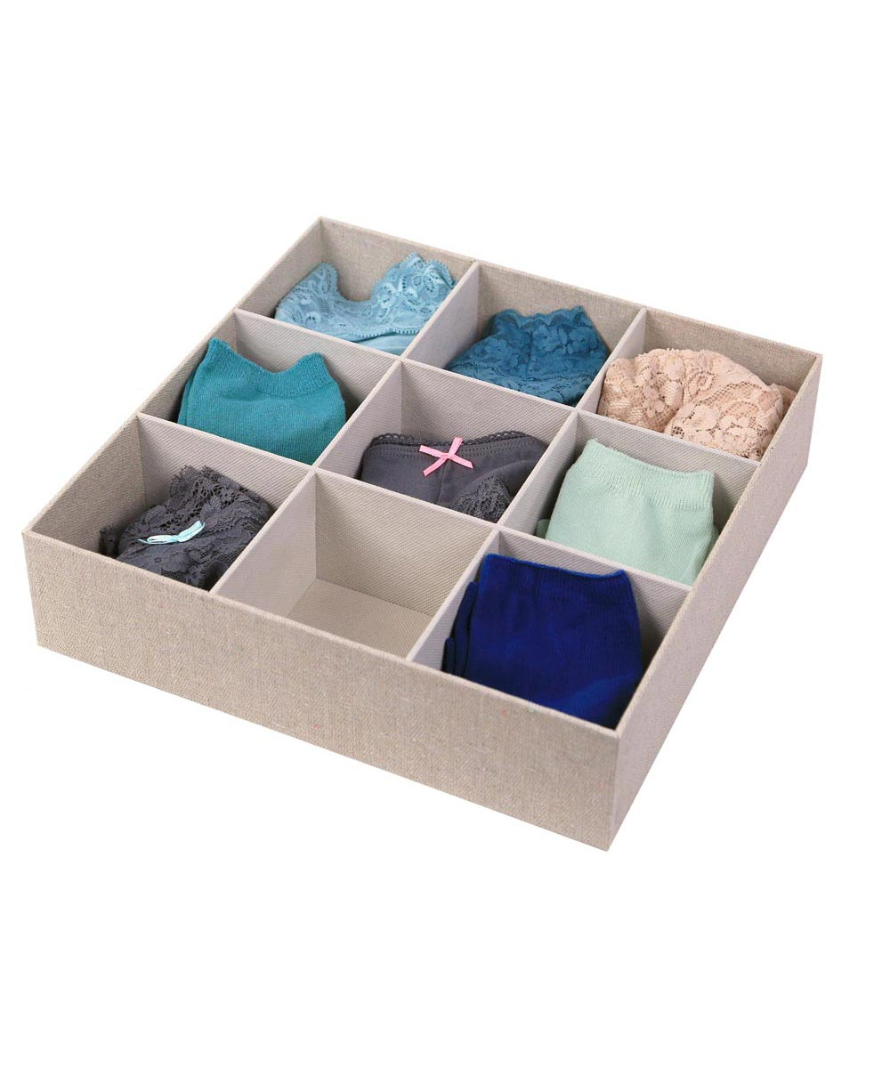 Loft Arrow 9-Compartment Drawer Organizer, Natural Color