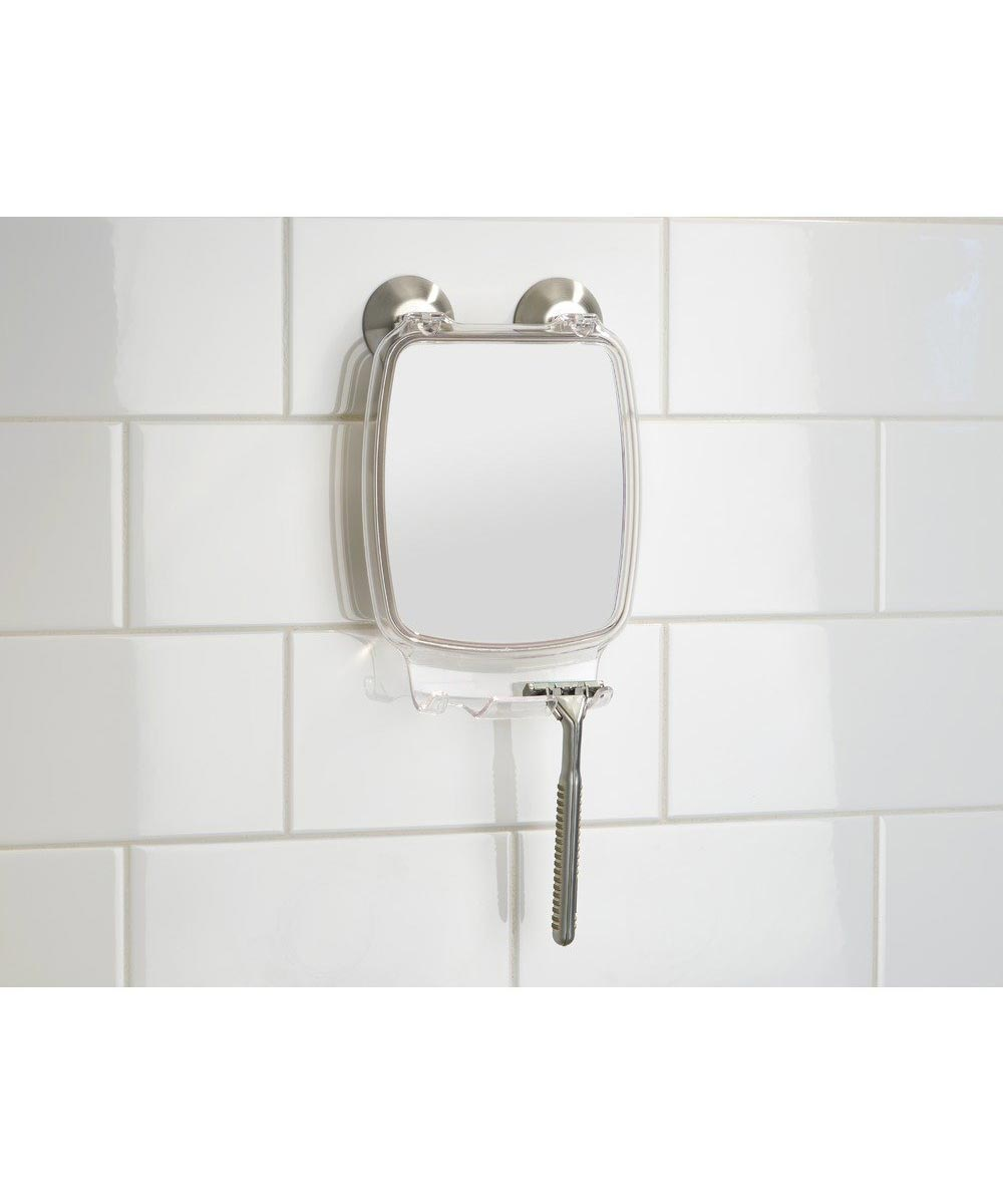 Forma Power Lock Fog-Free Bathroom & Shower Mirror with Razor Holder