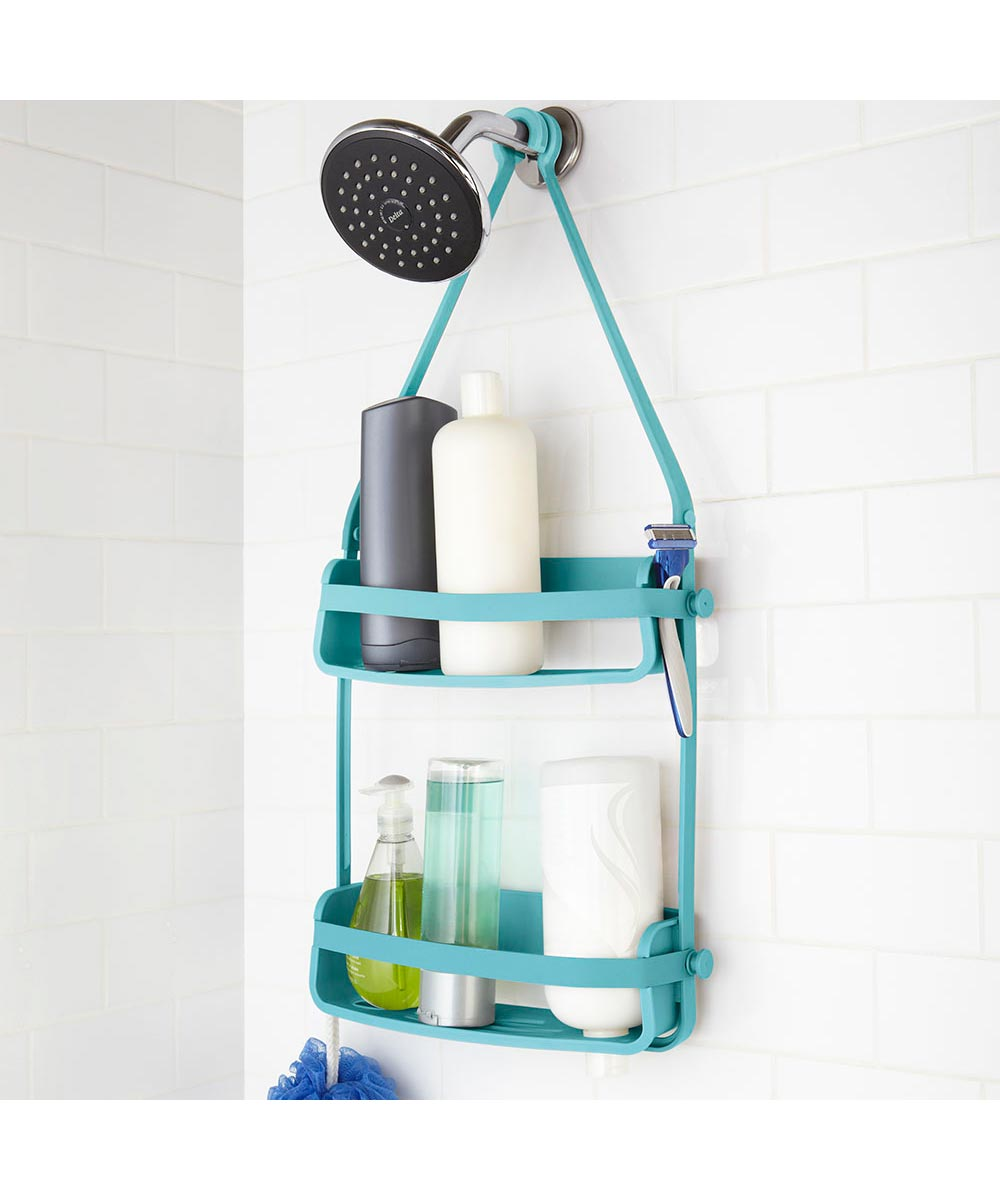 Simply Organized | Flex Hanging Shower Caddy, Surf Blue Color