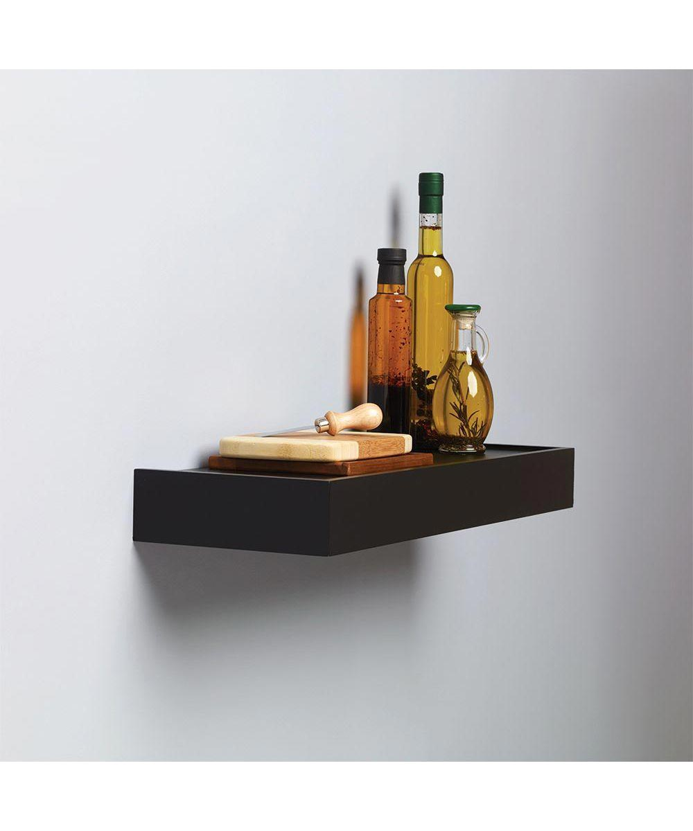 24 Inch Floating Wall Shelf Kit, Black