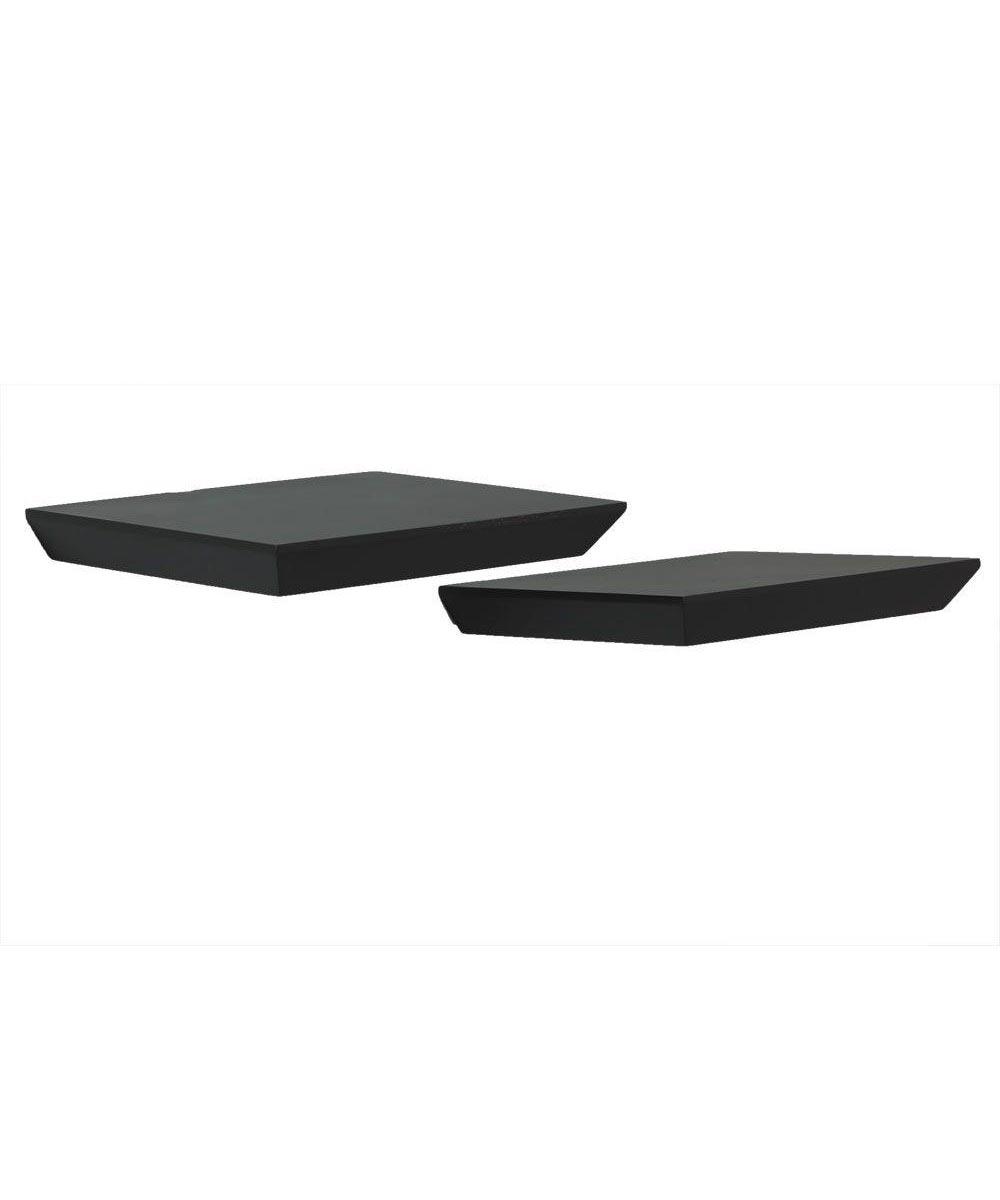 10 Inch Mini Floating Wall Shelf Kit, Black