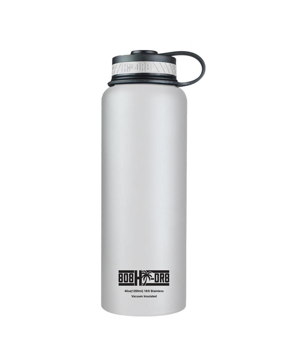 40 oz Stainless Steel Vacuum Insulated Water Bottle, White Pikake