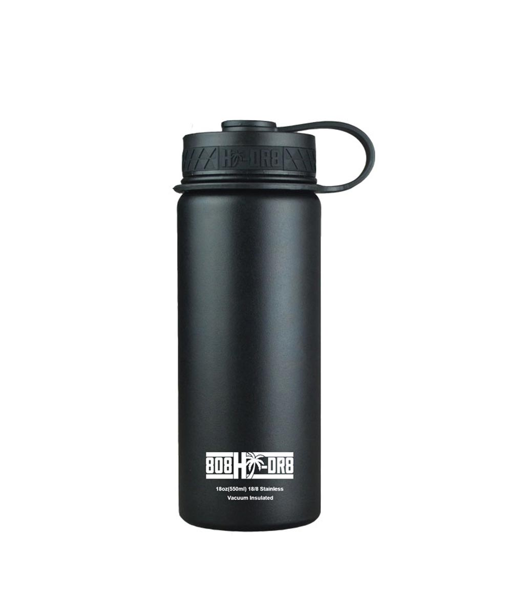 18 oz Stainless Steel Vacuum Insulated Water Bottle, Black Sand