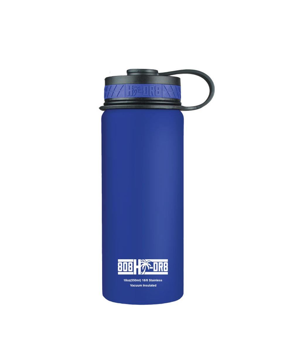 18 oz Stainless Steel Vacuum Insulated Water Bottle, Blue Hawaii