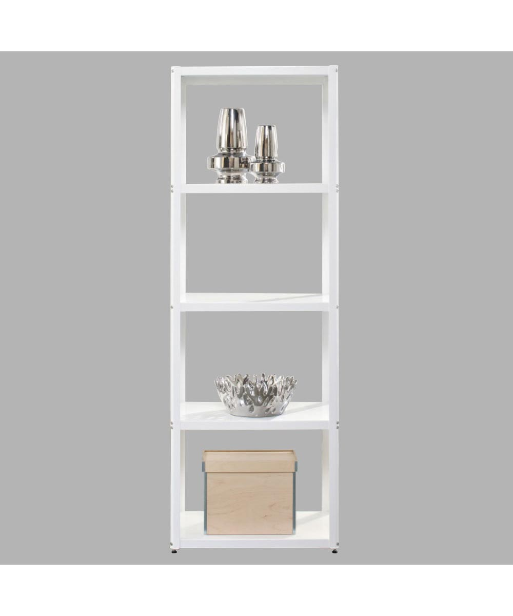 Modern Tower Bookcase, White