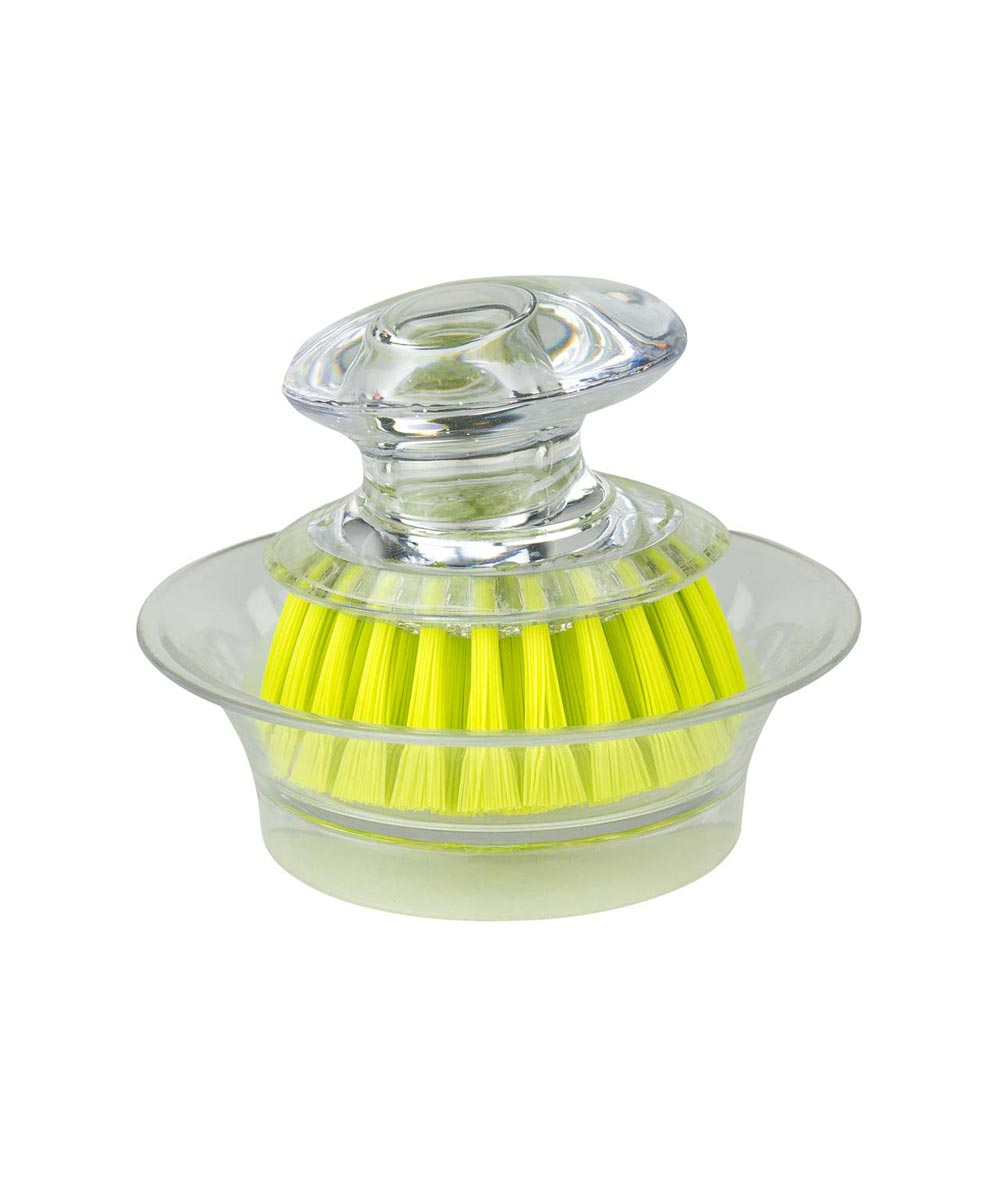 Mini Dish Brush Scrubber with Holder, Assorted Colors