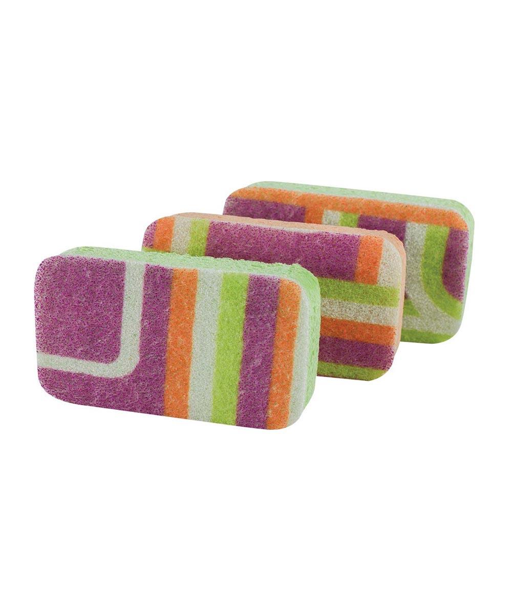 Non-Stick Safe Dish Scrubby Sponge, Multi-Color 3 Pack