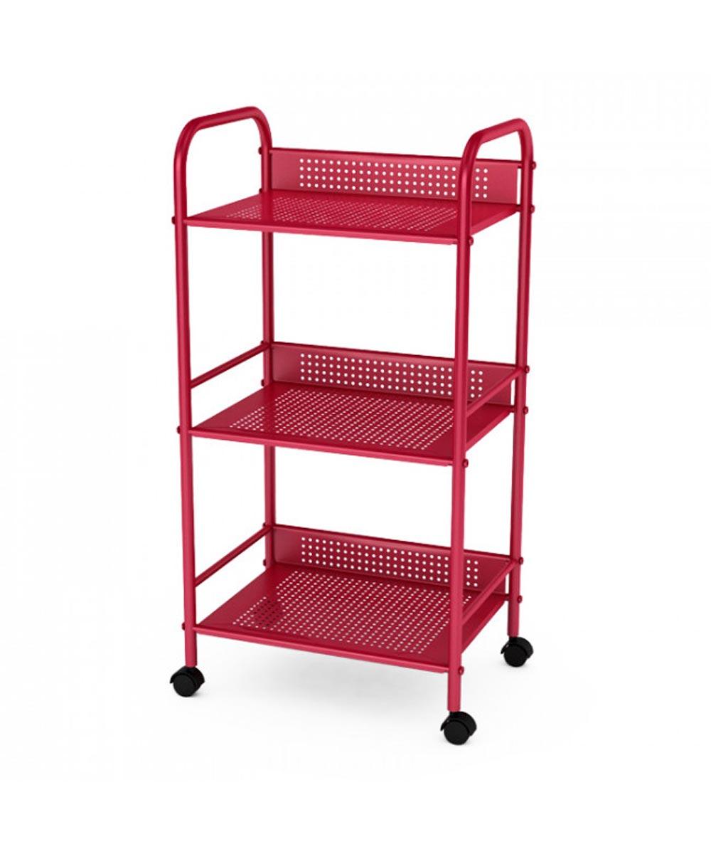 Atlantic 3-Tier Shelving Cart, Red