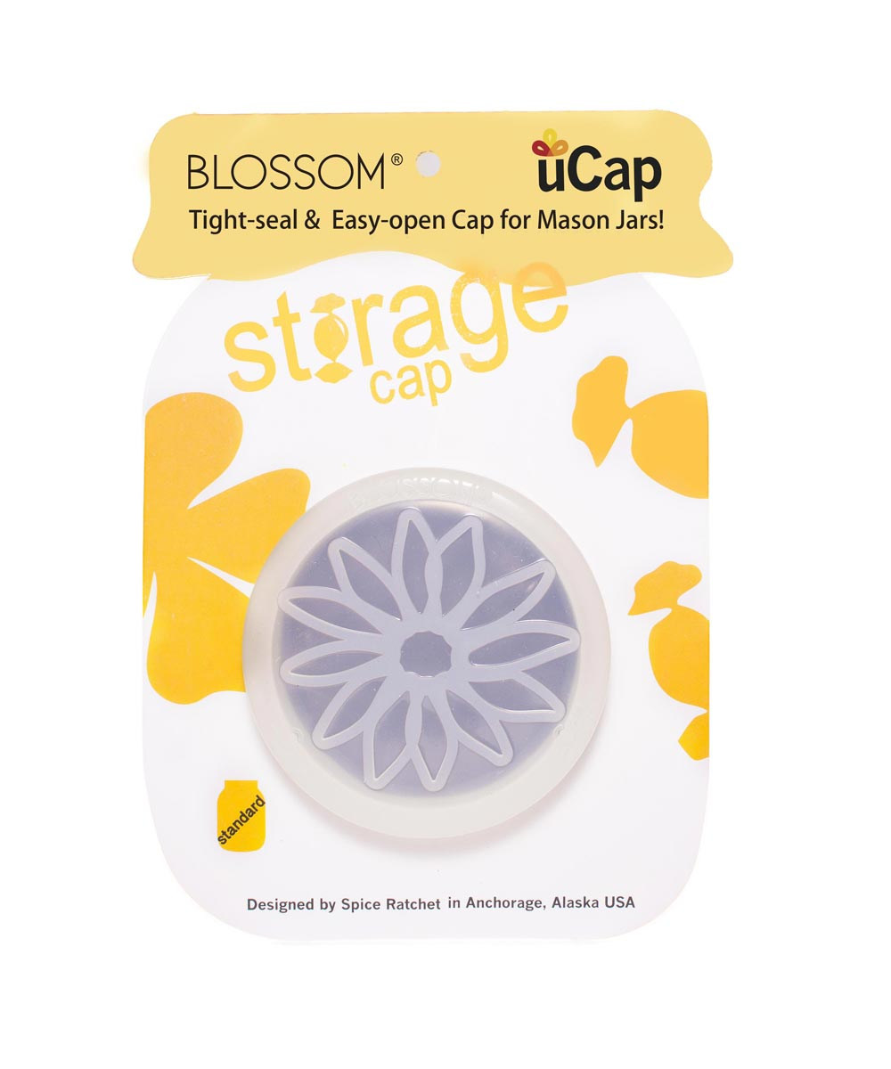 uCap Silicone Standard Size Storage Cap for Mason Jars