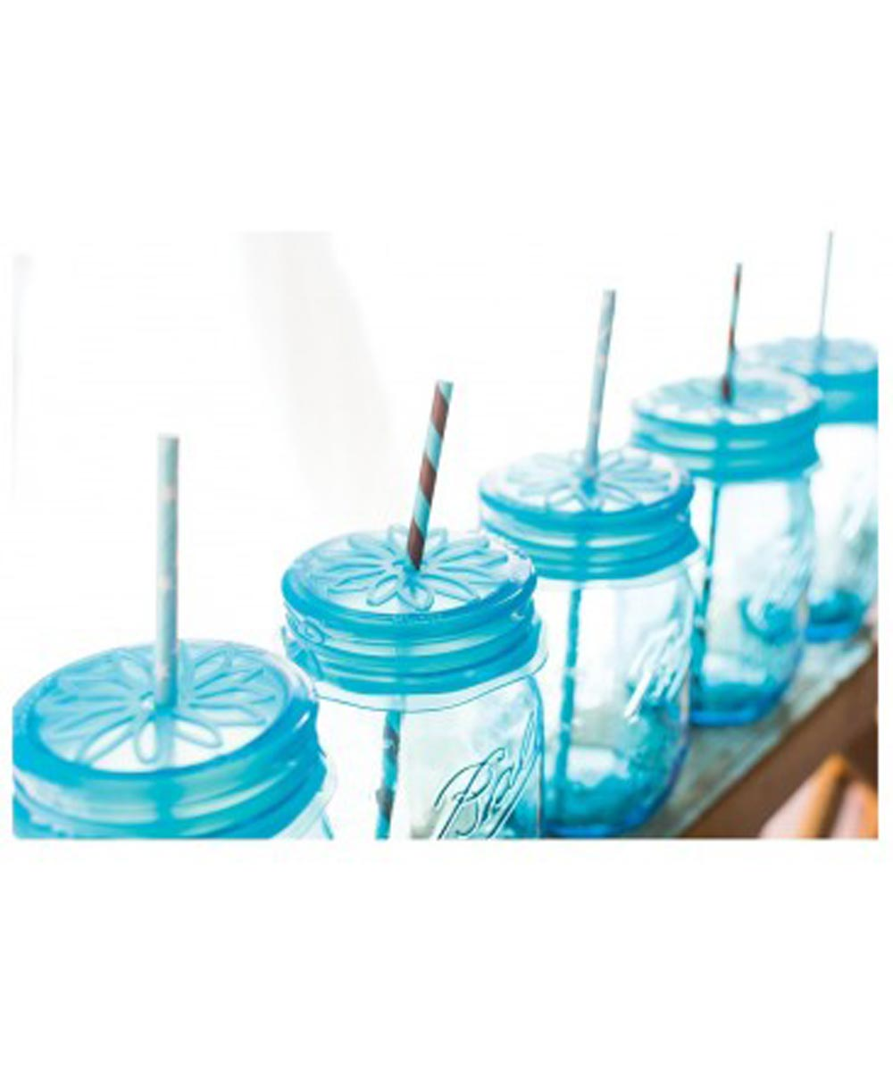 uCap Silicone Standard Size Sipping Cap for Mason Jars