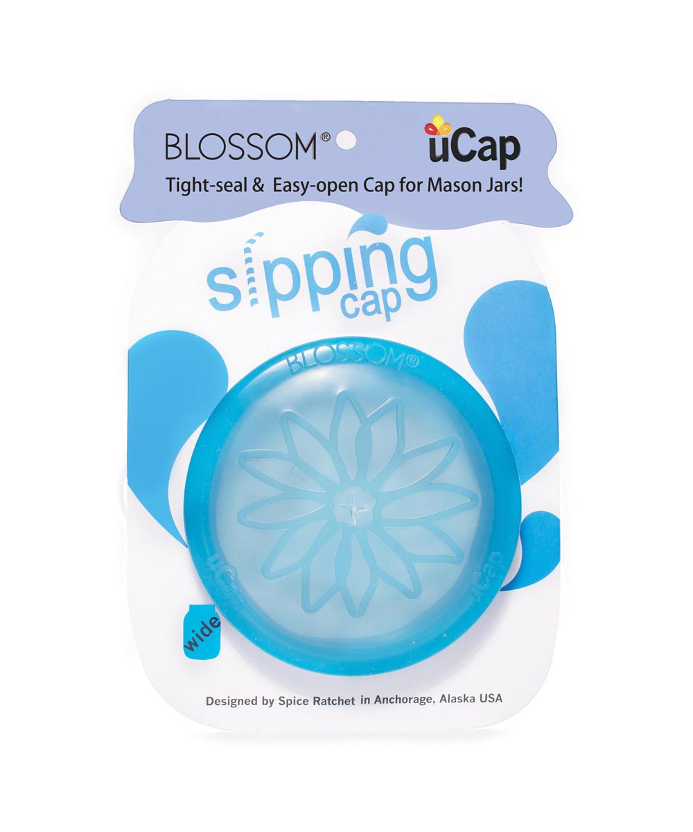 uCap Silicone Wide Size Sipping Cap for Mason Jars