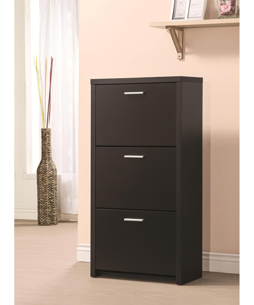 Accent Cabinets - Tall 3-Drawer Shoe Cabinet