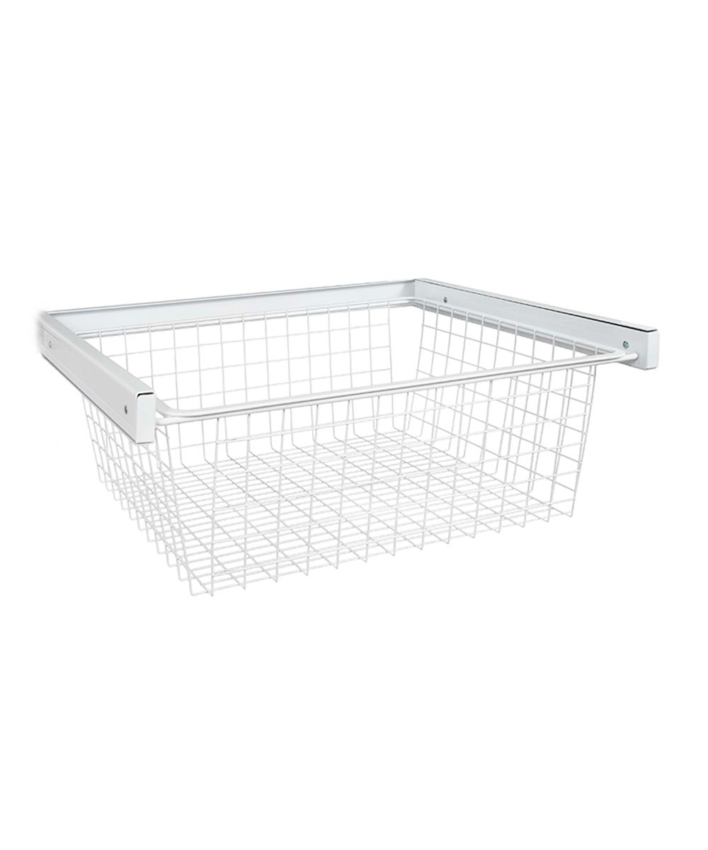Reveal Wire Basket, White