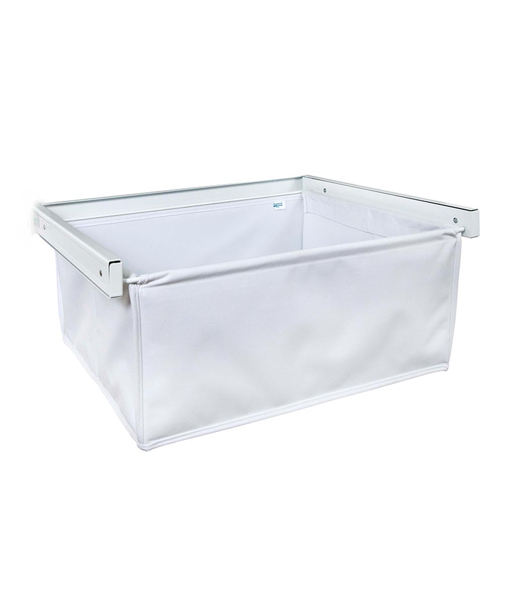 Reveal Canvas Basket, White