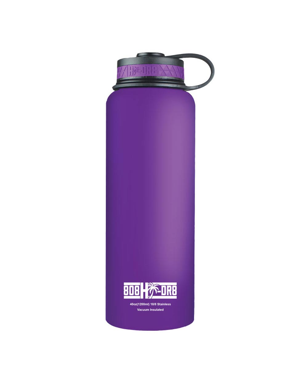 40 oz Stainless Steel Vacuum Insulated Water Bottle, Purple Orchid