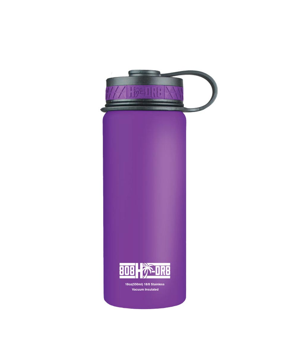 18 oz Stainless Steel Vacuum Insulated Water Bottle, Purple Orchid