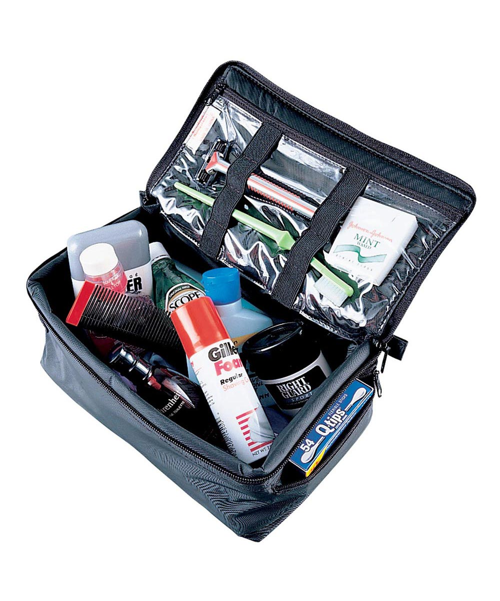Travel Grooming Kit, Black Case