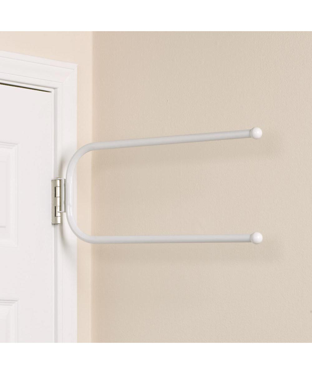 Hinge Mounted Double Bar Towel Holder