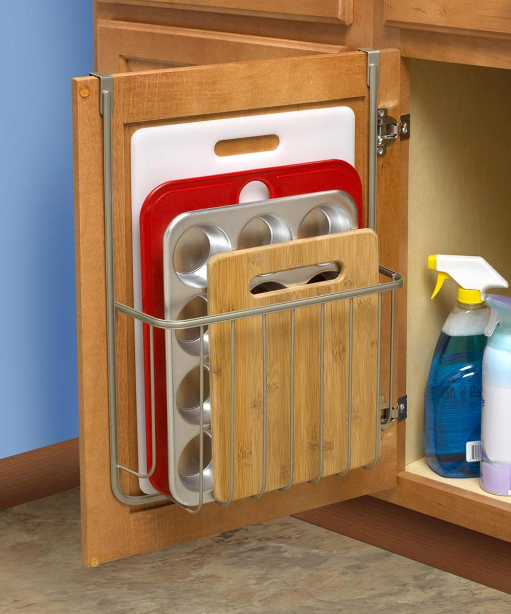 Hanging Overcabinet Cutting Board & Bakeware Holder