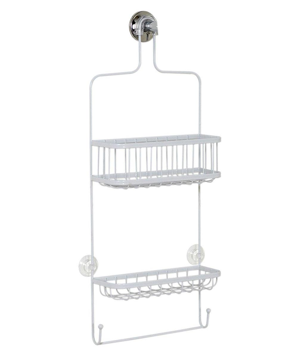 White Premium Bathtub & Shower Head Caddy