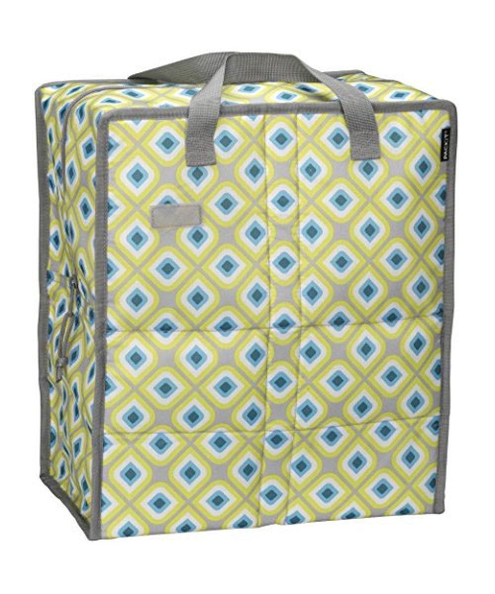 Freezable Grocery Bag, Geometric Design