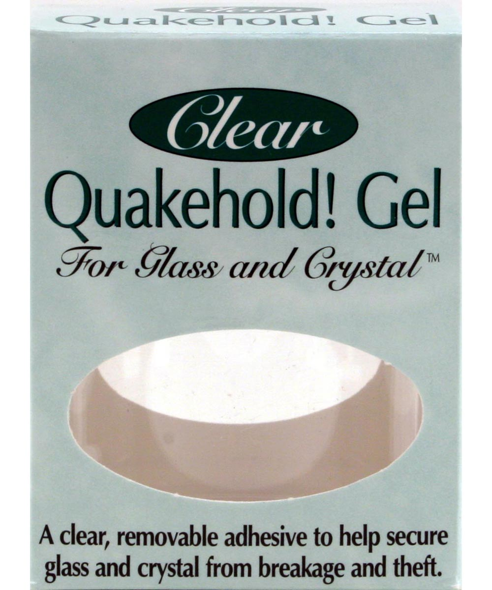 Quakehold Gel Clear Removable Glass & Crystal Adhesive