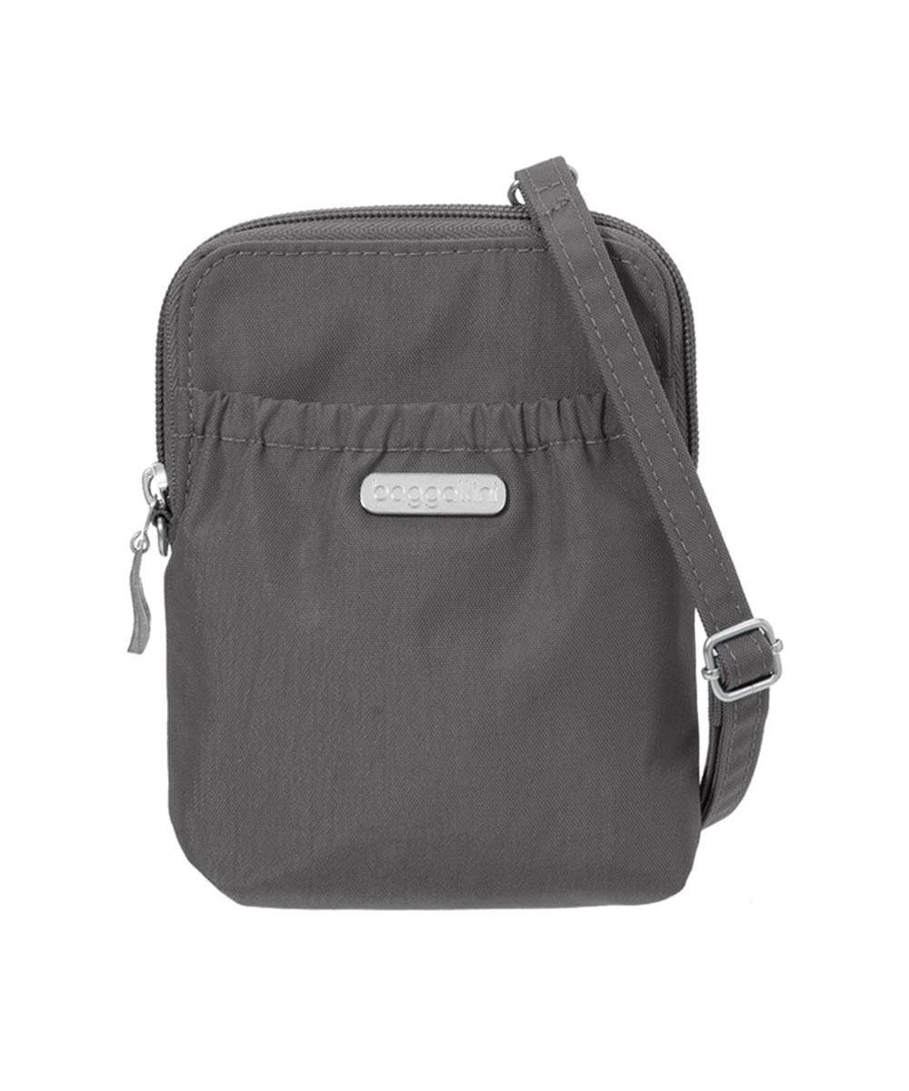 Bryant Pouch Bag with Adjustable Strap & RFID Protection, Charcoal