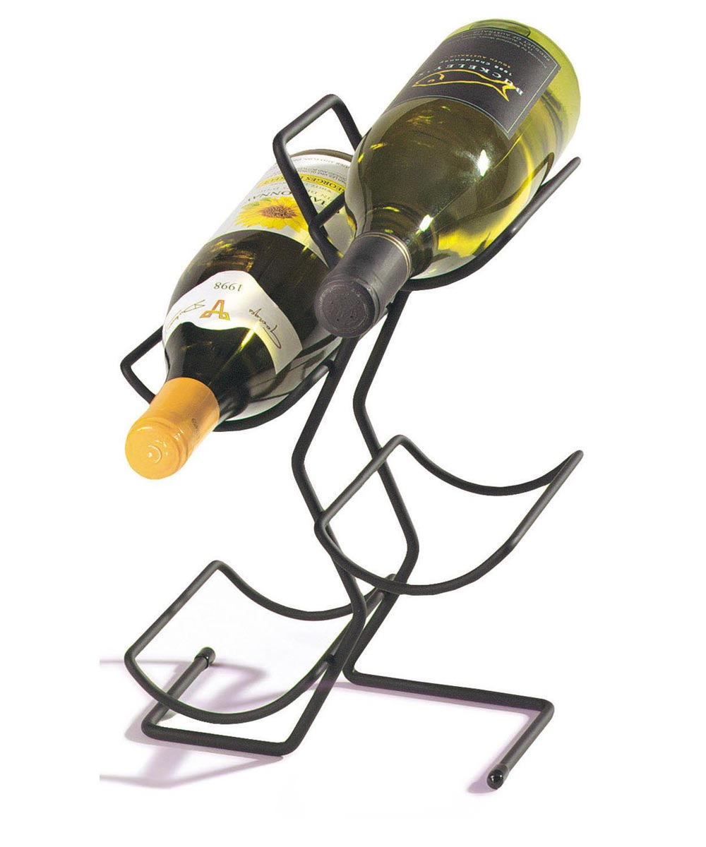 4 Bottle Wine Tree, Black