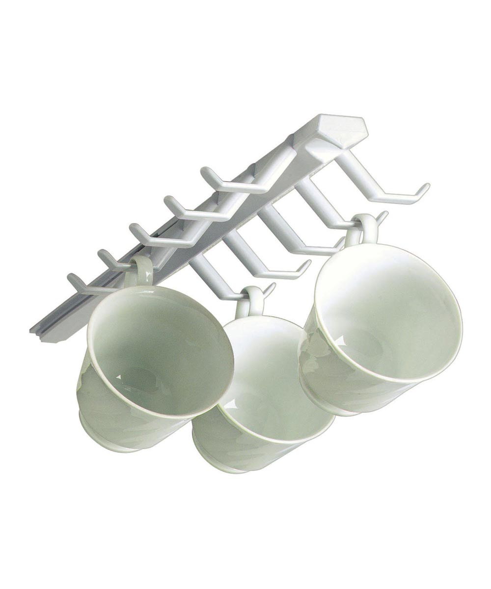 White Sliding Cup Rack