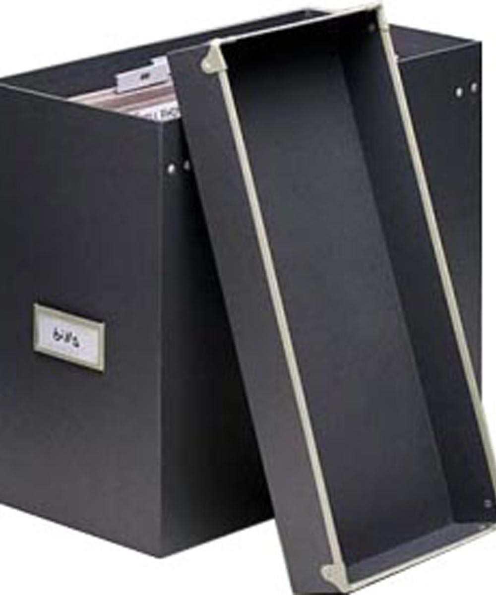 Frisco File Box, Gray/Fog Color