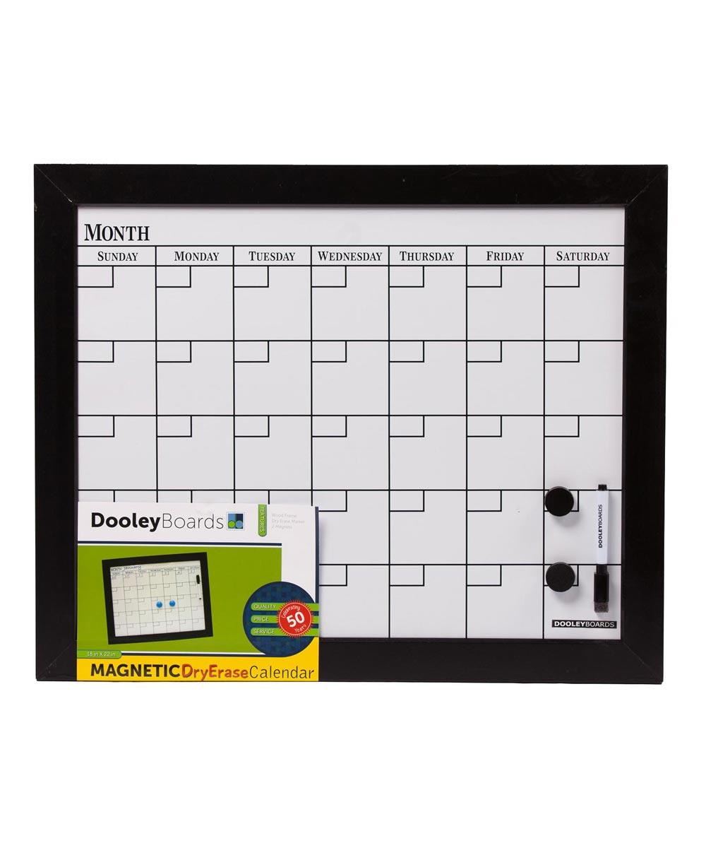 Black Calendar Board, 18x22 Inches