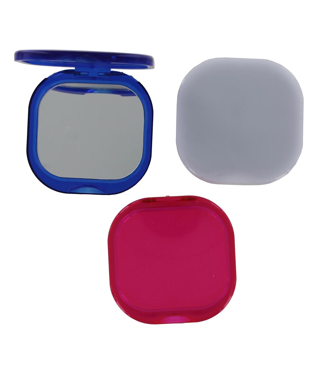 2-Sided Folding Compact Mirror, Assorted Colors