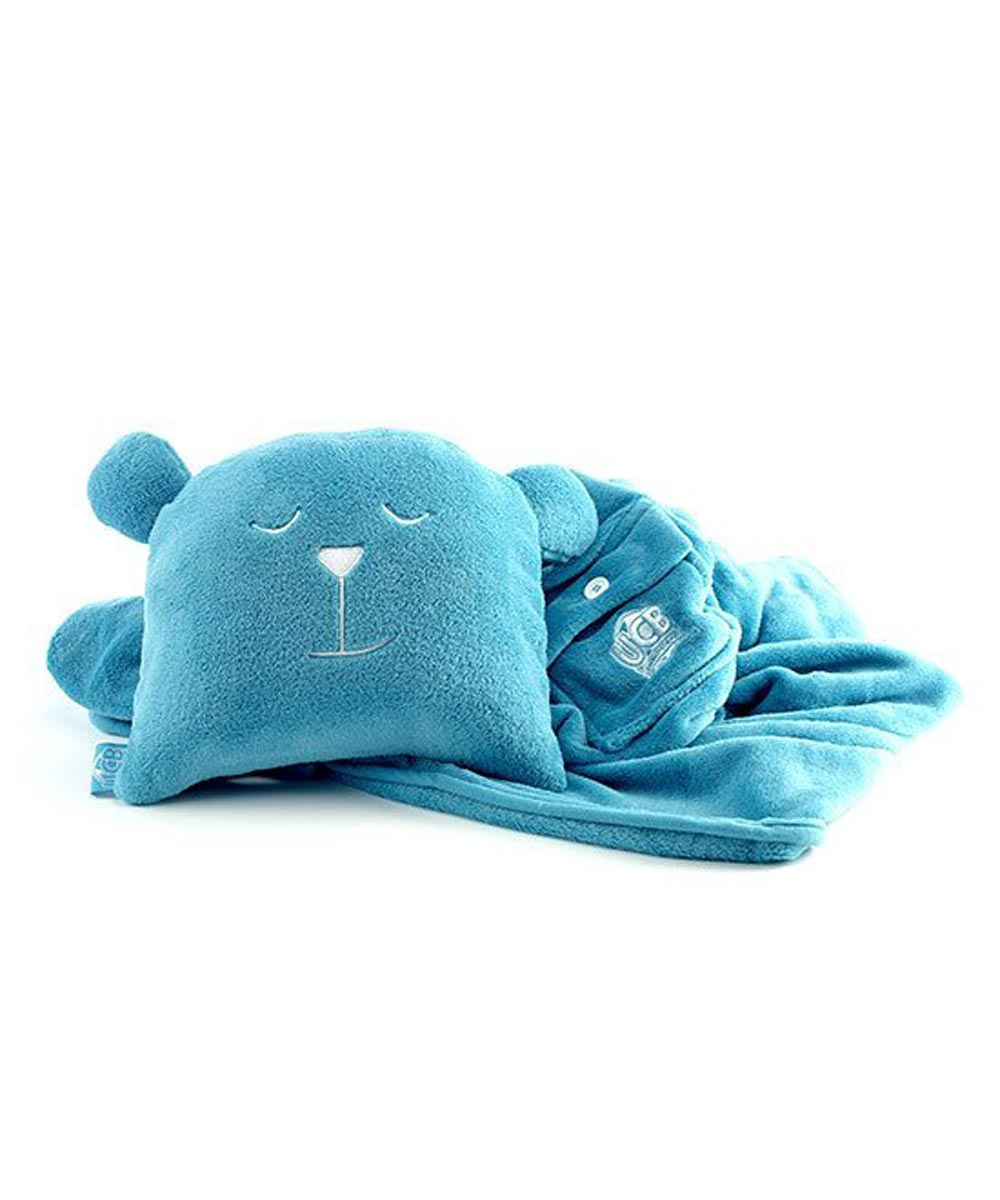 Undercover Bear Blanket & Pillow Combo, Turnberry Teal