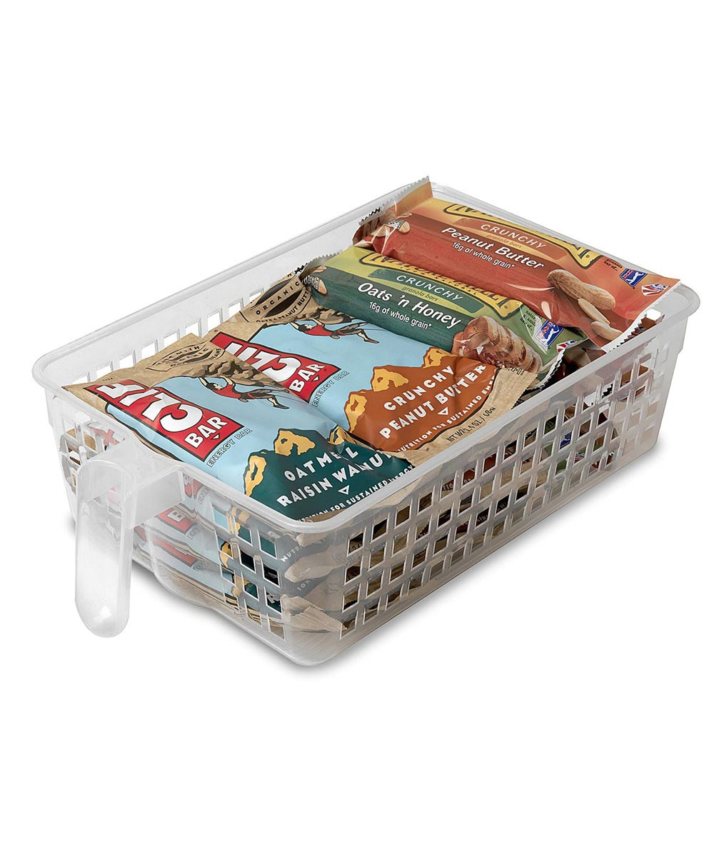 Wide Handy Basket, Clear