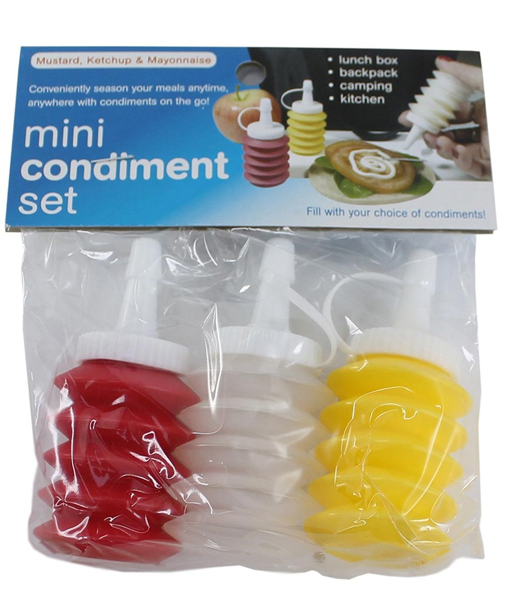 Stay Fresh Mini Condiment Dispensers, Set of 3
